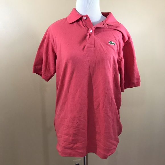 09874f0ad Lacoste Men s Pink Peach Polo Size 4 Small NEW NWT